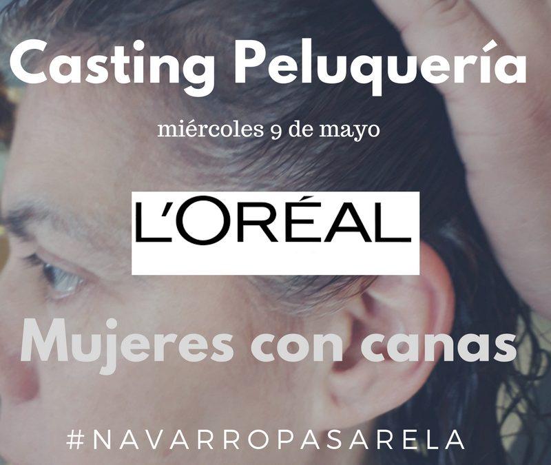 HOY 12:30 H. CASTING PELUQUERÍA – Mujeres con Canas en Raíz y Cabello Castaño