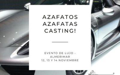 CERRADO — Casting Azafatas/os para evento coches de lujo en Almerimar