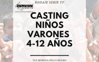 CERRADO — Casting NIÑOS VARONES – 4 a 12 años. Rodaje Serie TV