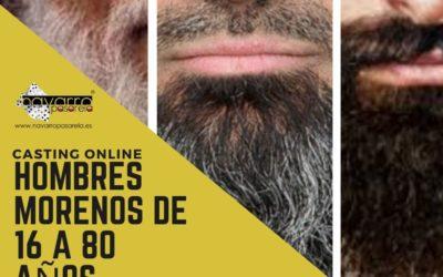 CERRADO — CASTING online – HOMBRES CON BARBA Y/O BIGOTE tez oscura