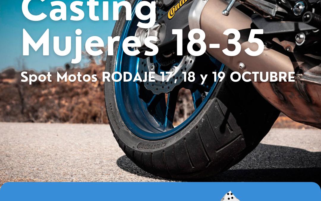 CASTING modelo mujer 18 – 30 años para rodaje Spot Moto (3 jornadas)